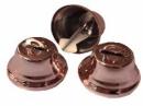 Kovový zvonček 2cm - ružový lesklý