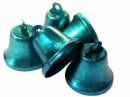 Kovový zvonček 2cm - zelenomodrý