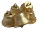 Kovový zvonček 2cm matný - platinovozlatý