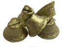 Kovový zvonček 1,5cm brúsený - svetlozlatý