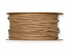 Umelá kožená šnúrka 3 mm - prírodná