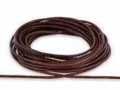 Kožená šnúrka 2 mm-návin 5 m - hnedá