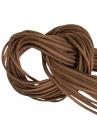 Umelá kožená šnúrka plochá 2,5mm - hnedá