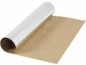 Metalický kožený papier 49x100cm - strieborný