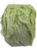 Kožušinový pás - stuha 4 cm - 2 m - jarná zelená