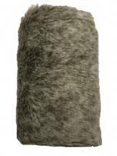Kožušinový pás - stuha 12 cm - 2 m - natur