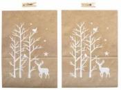 Kraftové papierové vrecko vianočné - 19 cm