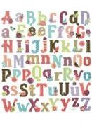 Kreatívne nálepky glitrované - abeceda