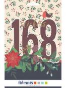 Kreatívne nálepky - kniha - tradičné Vianoce - 168ks