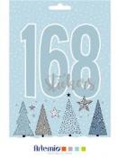 Kreatívne nálepky - kniha - Cosy Christmas - 168ks