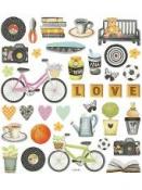 Kreatívne nálepky glitrované - LOVE