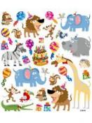 Kreatívne nálepky glitrované - narodeniny