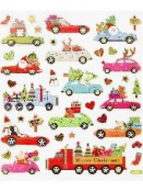 Kreatívne nálepky - vianočné autá