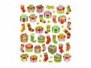 Kreatívne nálepky - vianočné glitter darčeky
