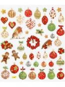 Kreatívne nálepky - vianočné ozdoby - glitrované