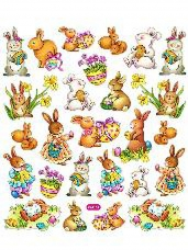 Kreatívne nálepky - zajace