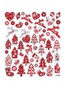 Kreatívne nálepky - vianočný mix  glitter