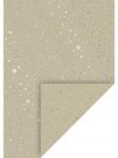 Kreatívny papier A4 - prírodný - strieborné hviezdičky