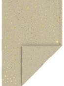 Kreatívny papier A4 - prírodný - zlaté hviezdičky