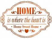 Šablóna 15 x 20 - HOME is where the heart is