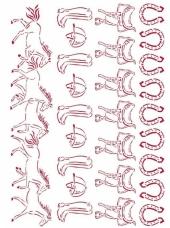 Šablóna 21 x 29,7cm - Cválajúce kone