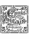 Šablóna 18 x 18 cm - Čokoláda