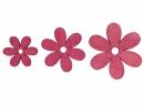 Drevený výrez kvet - 4cm - cyklamenový