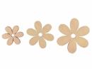 Drevený výrez kvet - 4cm - lososový