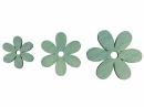 Drevený výrez kvet - 5cm - modrý