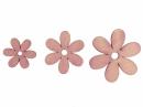 Drevený výrez kvet - 3cm - ružový