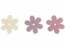 Drevený výrez kvet - 4,5cm - ružový