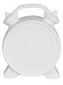 Stolová lampa budík 22 cm - biela