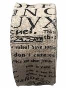 Ľanová stuha s potlačou 4cm - text