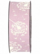 Látková stuha 40 mm púpava - ružová