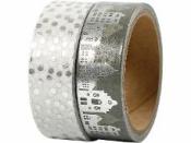 Lepiaca páska (masking tape) vzorovaná 15 mm - domčeky