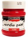 Akrylová farba matná - 230 ml - krvavá červená (rúž)