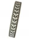 Ľanová stuha 15mm - ľudová - antracitová sivá