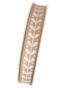 Ľanová stuha 15mm - ľudová - staro-ružová