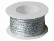 Lurexová metalická stuha 5 mm - strieborná
