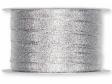 Lurexová metalická stuha 10 mm - strieborná