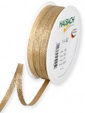 Lurexová metalická stuha 5 mm - zlatá