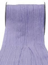 Luxusná stuha crash - pokrčená 50 mm - svetlá fialová