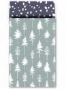 Luxusné papierové vrecúško 12 x 19cm - mentolové stromčeky
