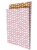 Luxusné papierové vrecko 25x34x4 cm - srdiečka