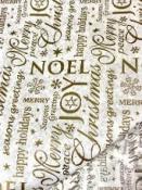 Luxusný vianočný hodvábny papier s trblietkami -10 kusov