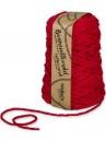 Macramé bavlnený špagát 5 mm - červený