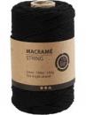 Macramé bavlnený špagát 2 mm - čierny
