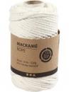 Macramé bavlnený špagát 4 mm - biely