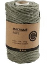 Macramé bavlnený špagát 4 mm - machový zelený