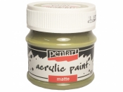 Matná akrylová farba Pentart - 50 ml - tŕňová zelená